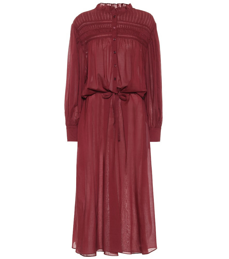 Isabel Marant, Étoile Perkins cotton voile midi dress in red