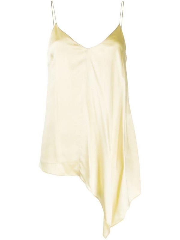 Joseph asymmetric silk cami top in yellow