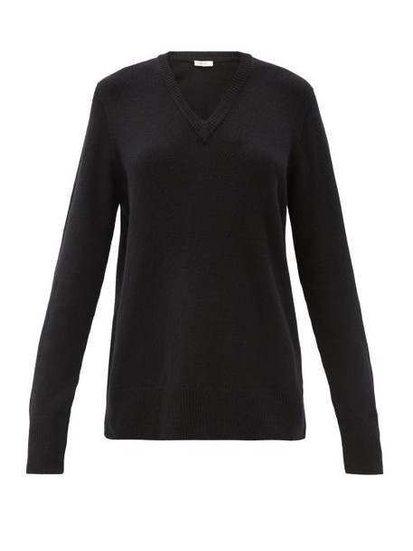 The Row - Elaine V-neck Wool-blend Sweater - Womens - Black
