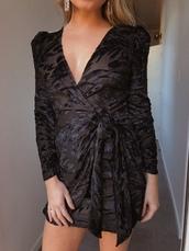 dress,black dress,sparkle,black dress with silver sparkles,wrap dress,holiday season,holiday dress