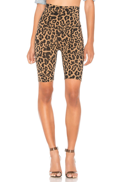 LNA Leopard Bike Short in brown