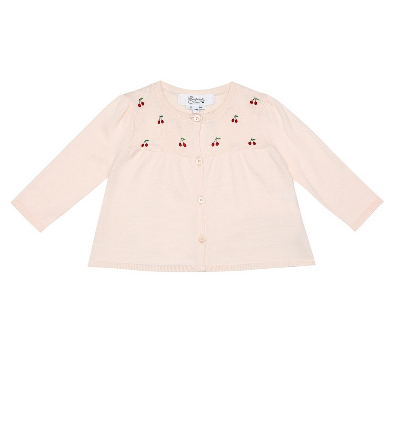 Bonpoint Cotton cardigan in pink