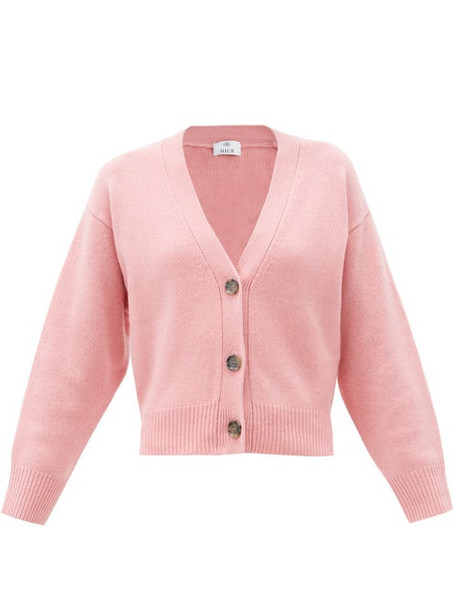Allude - V-neck Cashmere Cardigan - Womens - Pink