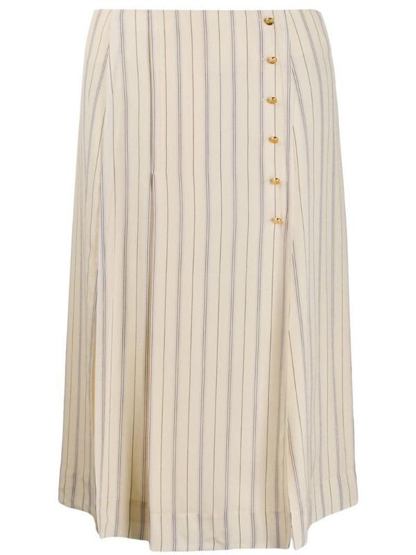 Chloé striped straight skirt in neutrals