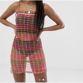 dress,festival,coachella,ibiza,multicolor,colorful,pink,party dress