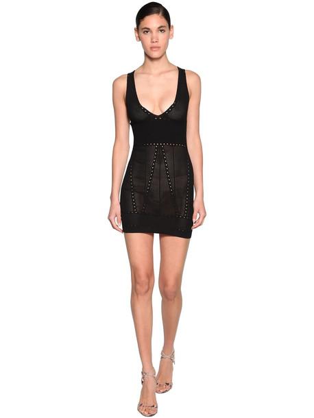 DSQUARED2 Viscose Blend Knit Mini Dress in black