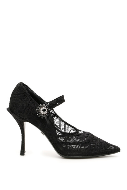 Dolce & Gabbana Lace Mary Jane Pumps in black