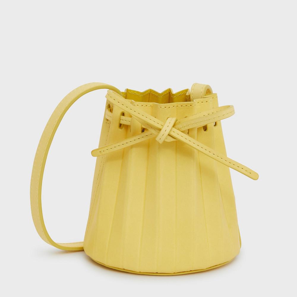 Mansur Gavriel Baby Pleated Bucket Bag - Limone