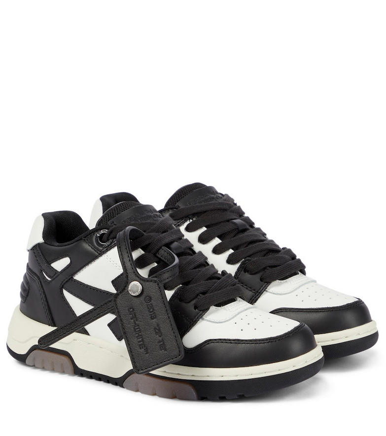 Off-White Out Of Office leather sneakers in black
