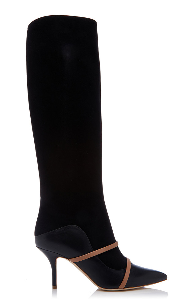 Malone Souliers Madison Two-Tone Leather Boots in black