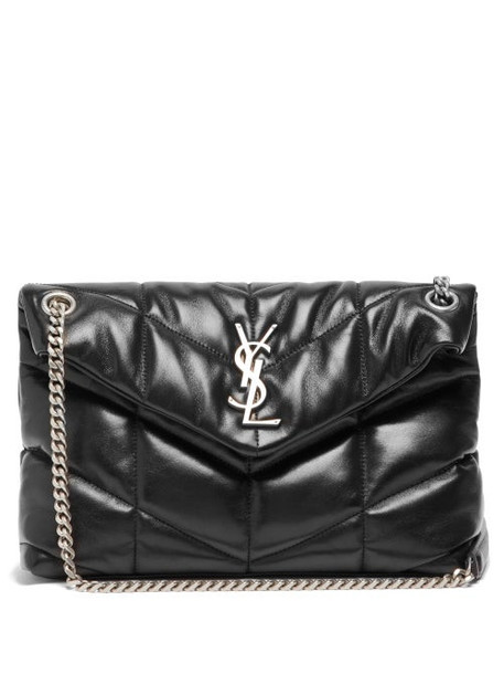 Saint Laurent - Loulou Puffer Small Leather Shoulder Bag - Womens - Black