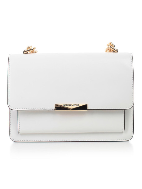 Michael Michael Kors Jade Gusset Shoulder Bag in white