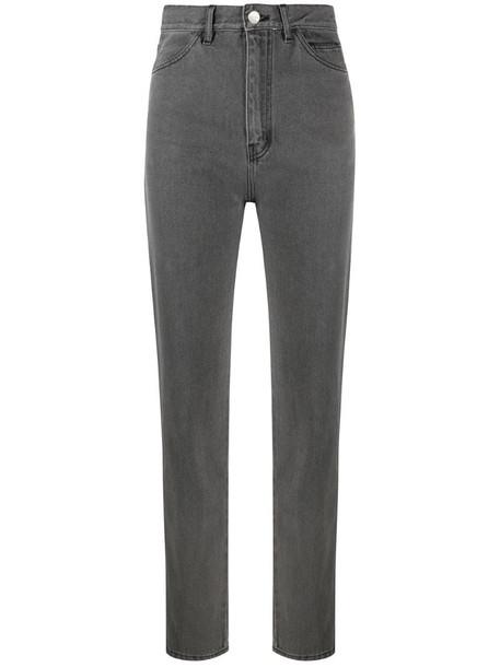 David Koma high-waist slim jeans in grey