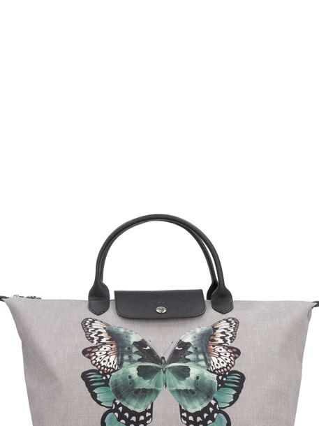 Longchamp Le Pliage Canvas Handbag in grey
