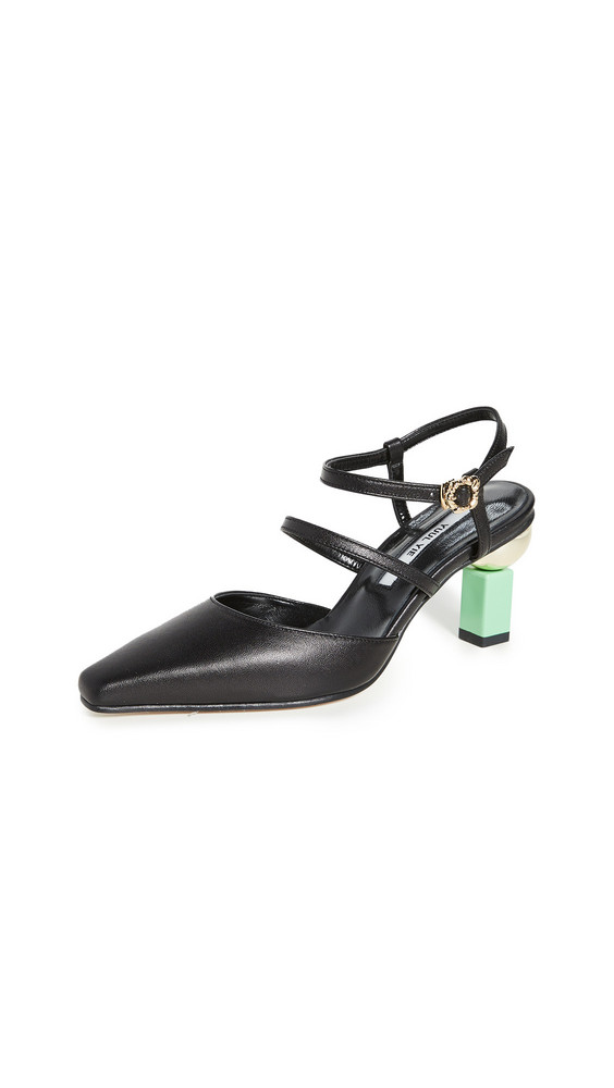 Yuul Yie Hilo Pumps in black / green