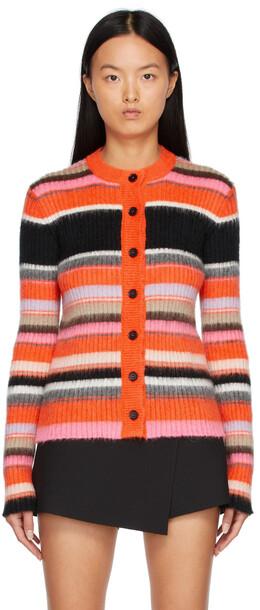 MSGM Multicolor Knit Colorblocked Cardigan