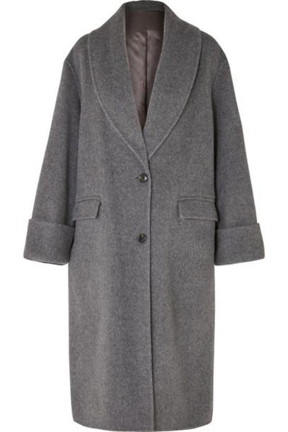 Joseph - Kara Wool And Alpaca-blend Coat - Gray