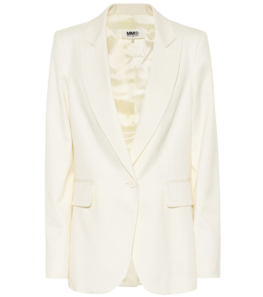 MM6 Maison Margiela Wool blend blazer in white