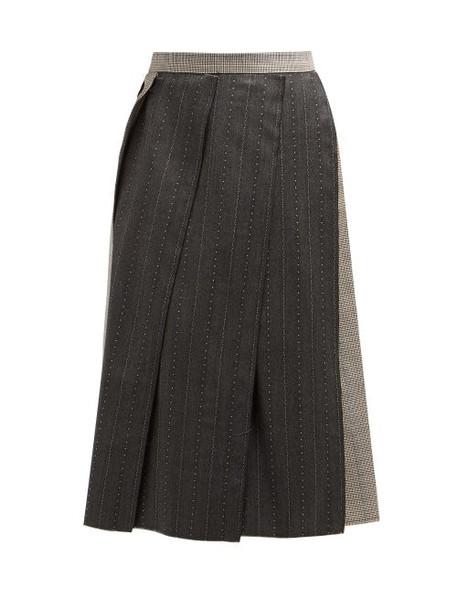 Vivienne Westwood - Raw Edge Wool Skirt - Womens - Grey Multi