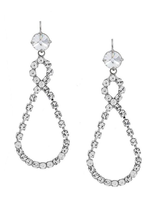 Miu Miu infinity drop earrings in metallic