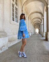 dress,mini dress,pleated dress,long sleeve dress,sneakers
