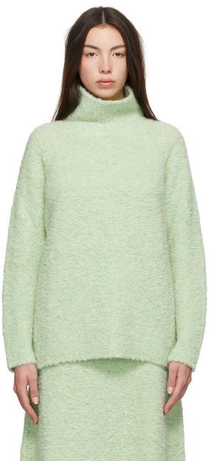GAUCHERE Green Alpaca Theon Turtleneck in mint