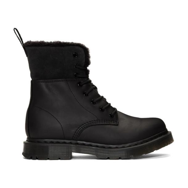 Dr. Martens Black Snowplow 1460 Kolbert Boots