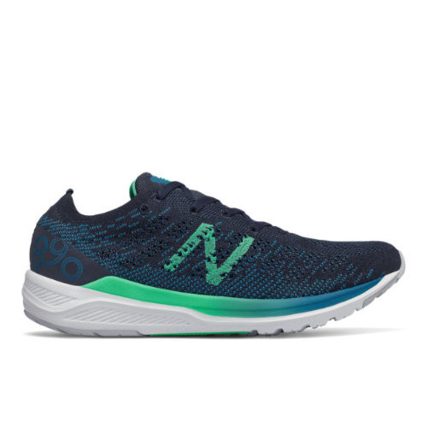 New Balance 890v7 Women's Neutral Cushioned Shoes - Blue/Black/Green (W890GG7)