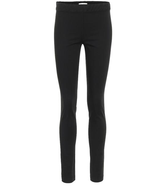 The Row Stratton stretch-cotton leggings in black