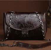 bag,genuine leather bag shoulder bag cross body bag embossed leather