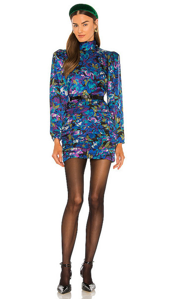 Ronny Kobo Annika Dress in Blue in indigo / multi