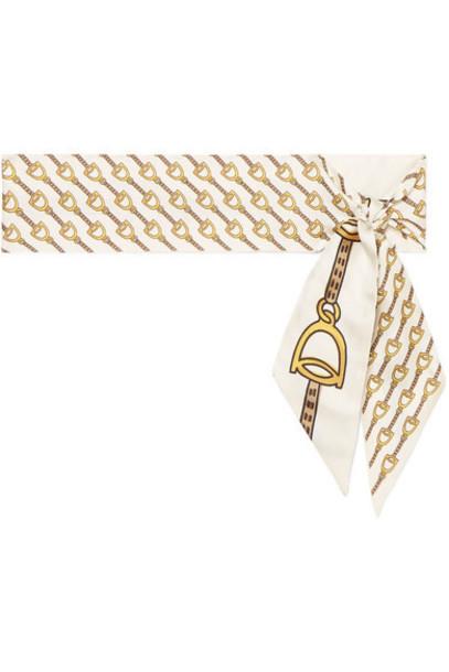 Gucci - Printed Silk-twill Scarf - Ivory