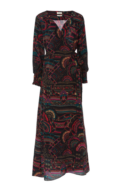 Chufy Illari Wrap-Effect Broadcloth Maxi Dress in print