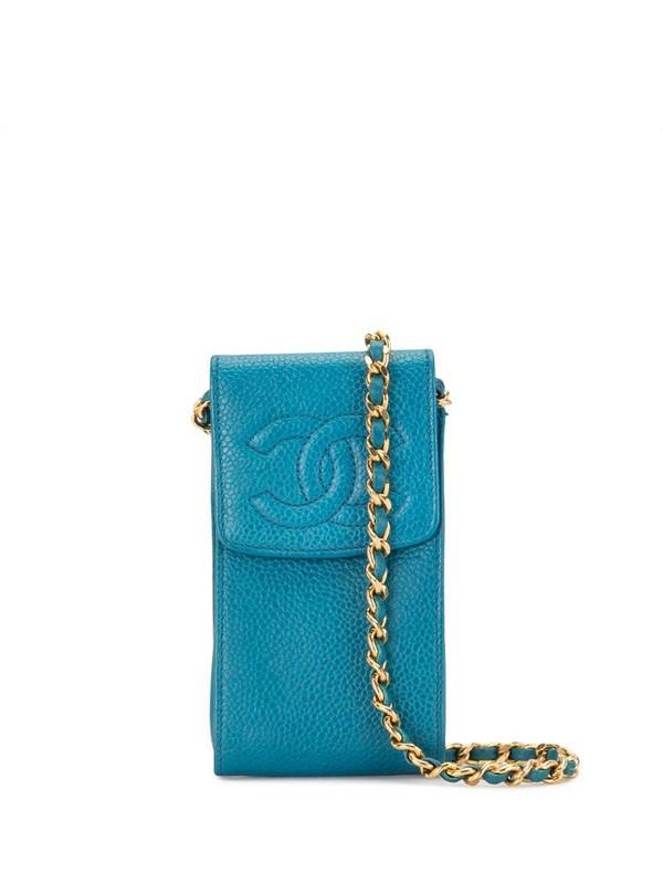 Chanel Pre-Owned 1995 pochette shoulder bag in blue