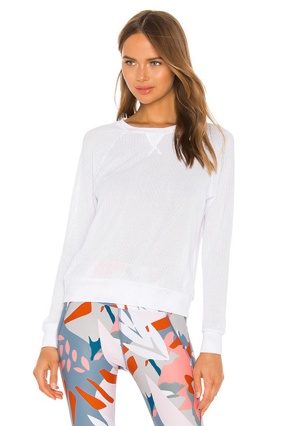 Maaji Shape Crew Neck Top in white
