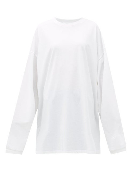Raey - Oversized Recycled-yarn Cotton-blend T-shirt - Womens - White