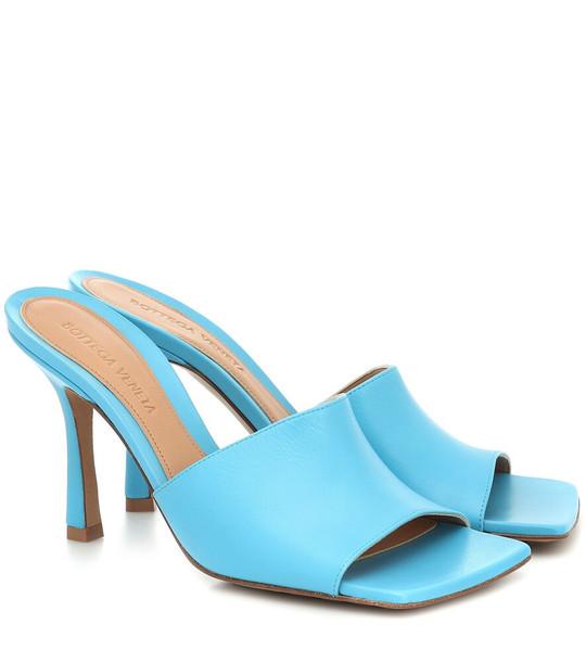 Bottega Veneta Stretch leather sandals in blue