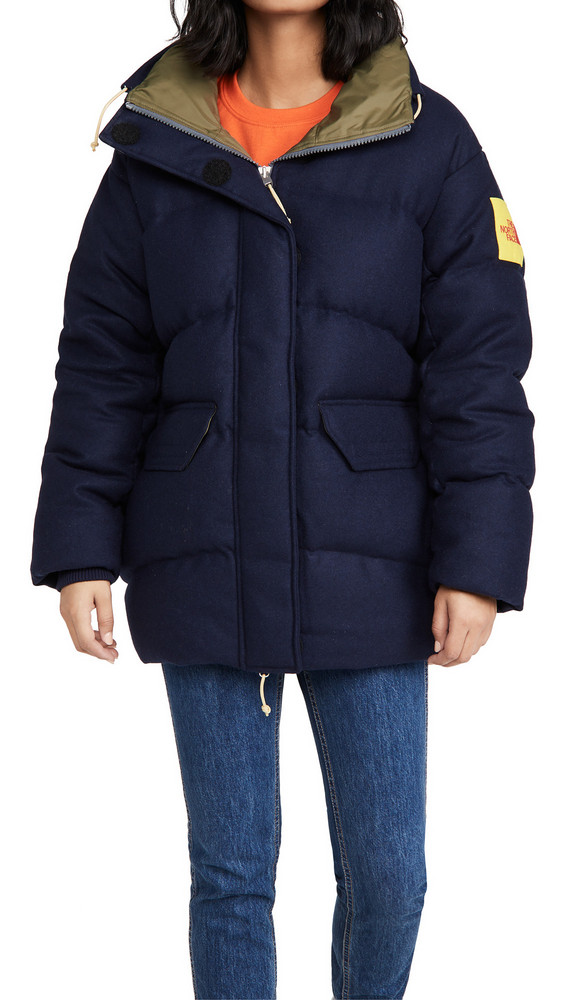 The North Face Brown Label Larkspur Wool Down Jacket in navy
