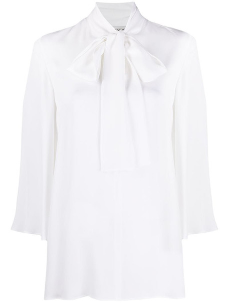 Valentino pussybow blouse in white