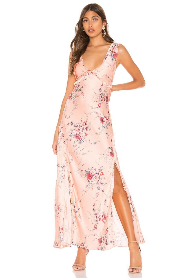 LoveShackFancy Kendall Silk Dress in pink