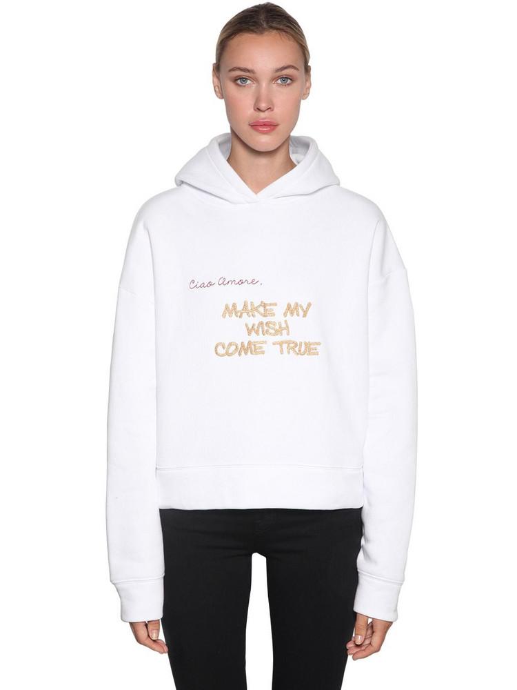GIADA BENINCASA Cotton Jersey Sweatshirt Hoodie in white