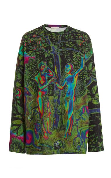 Christopher Kane Adam & Eve Psychedelic T-Shirt in print