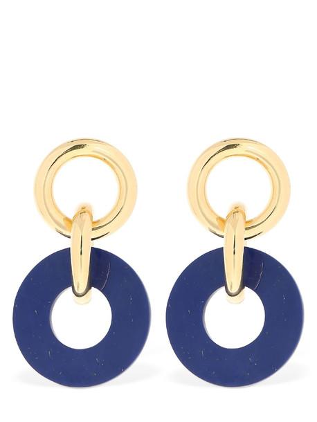 JOANNA LAURA CONSTANTINE Tribal Earrings in blue / gold