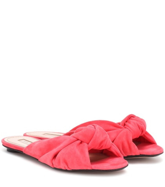 Samuele Failli Betsy suede slippers in pink
