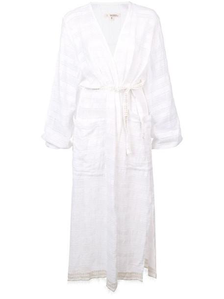 lemlem Kelali wrap-style cover-up in white
