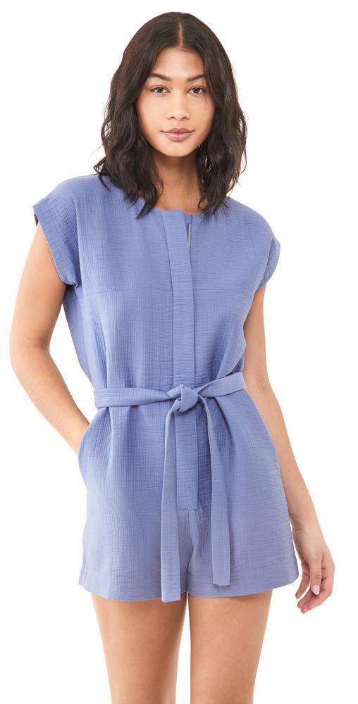 Rachel Comey Vico Shortsuit Romper in azure