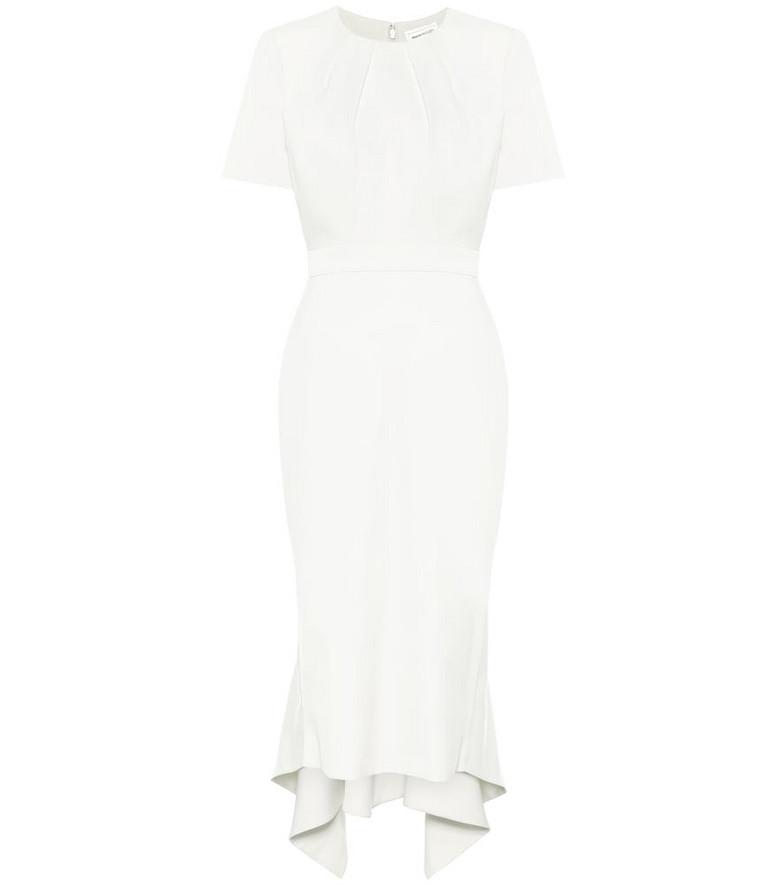 Alexander McQueen Virgin wool midi dress in white