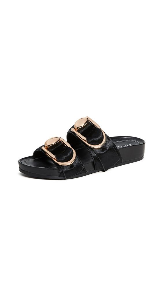 Stella Luna Double Ring Slide Sandals in black