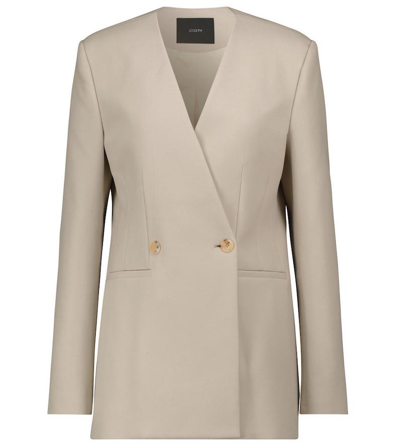JOSEPH Jem cotton twill blazer in beige