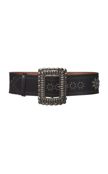 Etro Oversized Buckle With Embellishments Leather Belt in brown